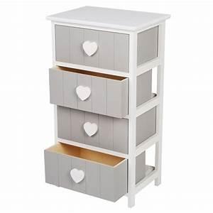 Kommode Grau Weiß : kommode mit 4 schubladen grau wei von tedi ansehen ~ Watch28wear.com Haus und Dekorationen