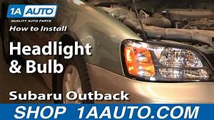How To Replace Headlight 00-04 Subaru Outback