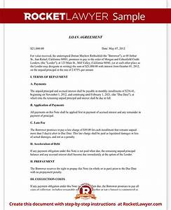 loan agreement template loan contract form with sample With private money lending documents
