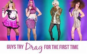Gay men in drag