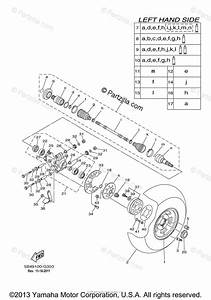 Yamaha Side By Side 2008 Oem Parts Diagram For Rear Wheel