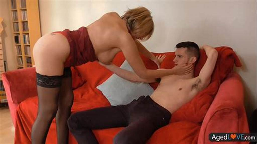 #Old #Blonde #Woman #Gets #Young #Dick
