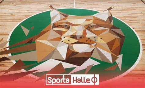 Jēkabpils sporta halles laukumus rotā lūša zīmējumi