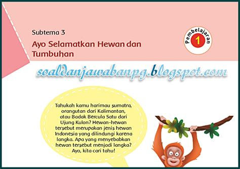 Subtema 1 tumbuhan sumber kehidupan. Kunci Jawaban Buku Tematik Tema 1 Kelas 6 Selamatkan ...