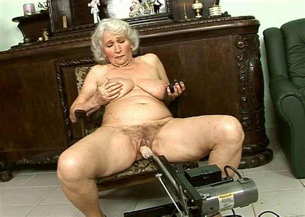 #Perverted #Granny #Is #Fucked #With #Sex #Machine #While #Sucking
