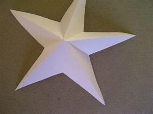 Origami Stern Falten Einfach : 3d sterne basteln 5 zackiger stern aus papier falten sehr ~ Watch28wear.com Haus und Dekorationen