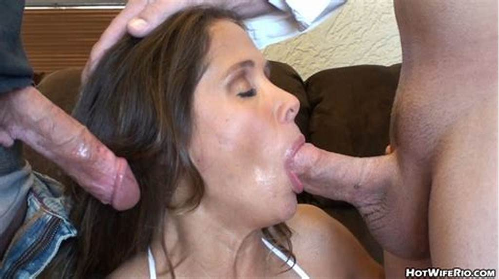 #Hot #Wife #Rio #Two #Cocks