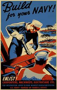 American Poster  Build For Your Navy