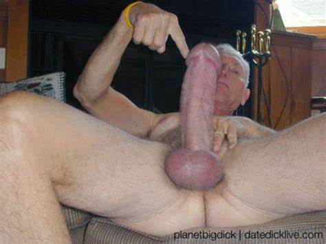 Rigid Grandpa With Enormous Dick