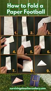 How To Make A Paper Football Tutorial   Football Game