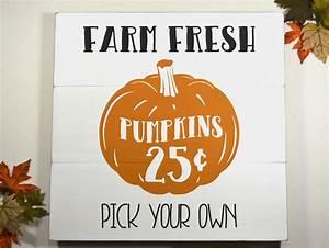 Farm, Fresh, Pumpkins, Wood, Sign, Fall, Farmhouse, Sign, Autumn