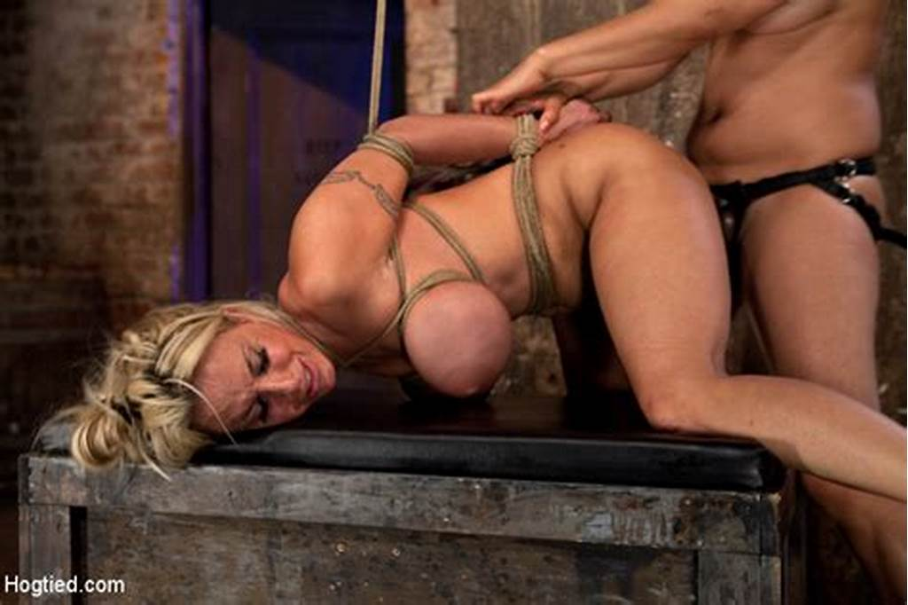 #Holly #Halston #In #Hogtied #Hot #Milf #Is #Throat #Fucked, #Strap