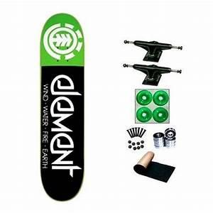 Element Fractal Green 7.75 Skateboard Deck Complete Black ...