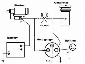 Typical Alternator With Amp Gauge Wiring Diagram