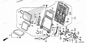 Honda Side By Side 2017 Oem Parts Diagram For Rear Seat