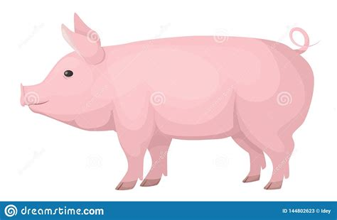 Choose from 140+ farm animals graphic resources and download in the form of png, eps, ai or psd. Farm Animals. Cute, Funny, Pink Domestic Pig, Medium Size ...