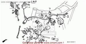 Honda Xr250r 1990  L  Canada Wire Harness  C D I  Unit