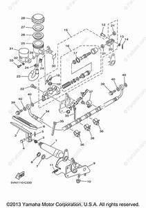 Yamaha Motorcycle 2004 Oem Parts Diagram For Rear Master