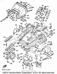 Yamaha Snowmobile 1989 Oem Parts Diagram For Shroud