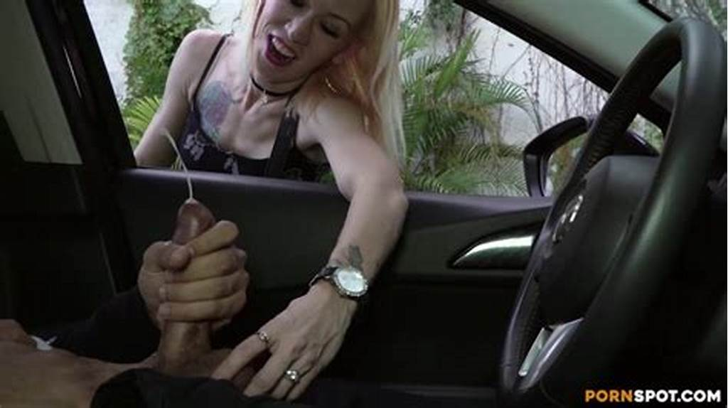 #Skinny #Blonde #Plays #With #My #Balls #While #I #Flash #Dick