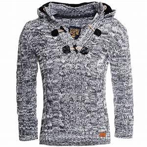 Strick And Style : young rich herren strick pullover kontrast kapuze knopfleiste slimfit yr1102 ebay ~ A.2002-acura-tl-radio.info Haus und Dekorationen