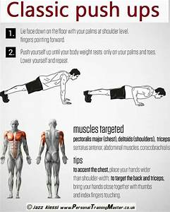 What Muscles Do Push Ups Work Out Diagram