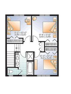 Colonial Style House Plan Number 76418 with 3 Bed 2 Bath