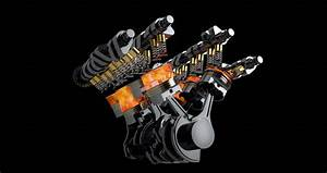 Rotating V8 Engine Animation With Stock Footage Video  100  Royalty