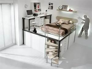 Lit Ado Design : 55 id es d 39 int rieur pour une chambre d 39 un gar on adolescent ~ Teatrodelosmanantiales.com Idées de Décoration