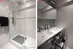 Douche Salle De Bain : avant apr s une salle de bains lumineuse et ~ Melissatoandfro.com Idées de Décoration