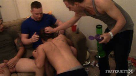 Young Frat Bro Creampie In Libertines Freshman Brad Exploited Gangbanged & Cumshots By Four Hung