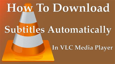As long as you have the subtitle file in the same folder and under the same name as the video with which you want to use it, you should be able to select. How To Download Subtitles Automatically In VLC Media ...