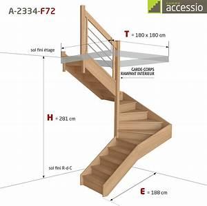 Escalier Double Quart Tournant Pas Cher : demi tournant a 2334 escaliers flin ~ Premium-room.com Idées de Décoration