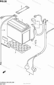 Suzuki Motorcycle 2014 Oem Parts Diagram For Battery