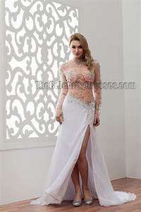 sexy long sleeve see through beaded wedding dresses With see through wedding dress pictures