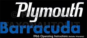 1966 Plymouth Cd Repair Shop Manual Barracuda Belvedere