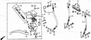 Honda Motorcycle 1983 Oem Parts Diagram For Fr  Brake