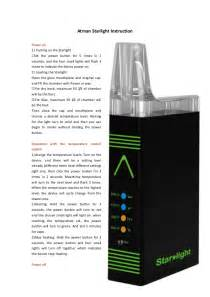 Atman Starlight Vaporizer User Guide  User Manual  How To