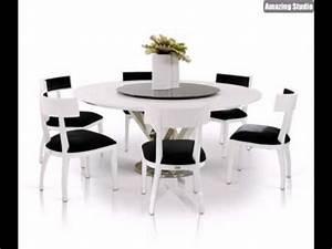 Weisse Esstisch Stühle : elegantes interieur wei e m bel runder esstisch wei glas ~ A.2002-acura-tl-radio.info Haus und Dekorationen