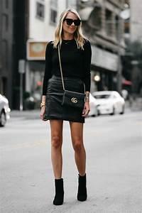 A STYLISH WAY TO WEAR A BLACK LEATHER MINI SKIRT | Fashion Jackson
