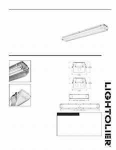 Lightolier Sealatron Enclosed Industrial Fluorescent Stw