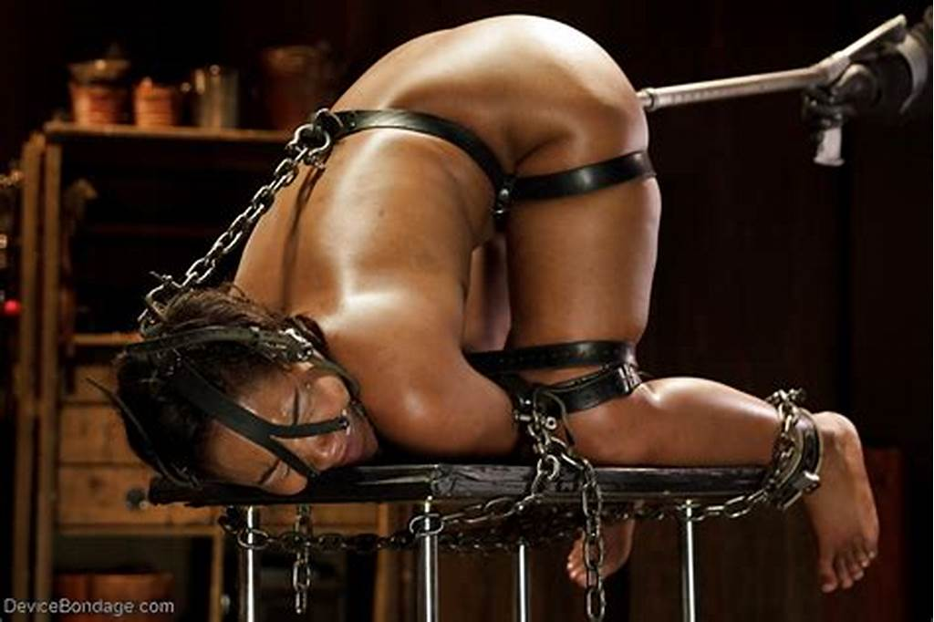 #Ebony #Hottie #Chanell #Heart #Used #As #Sex #Slave #With #Ball #Gag
