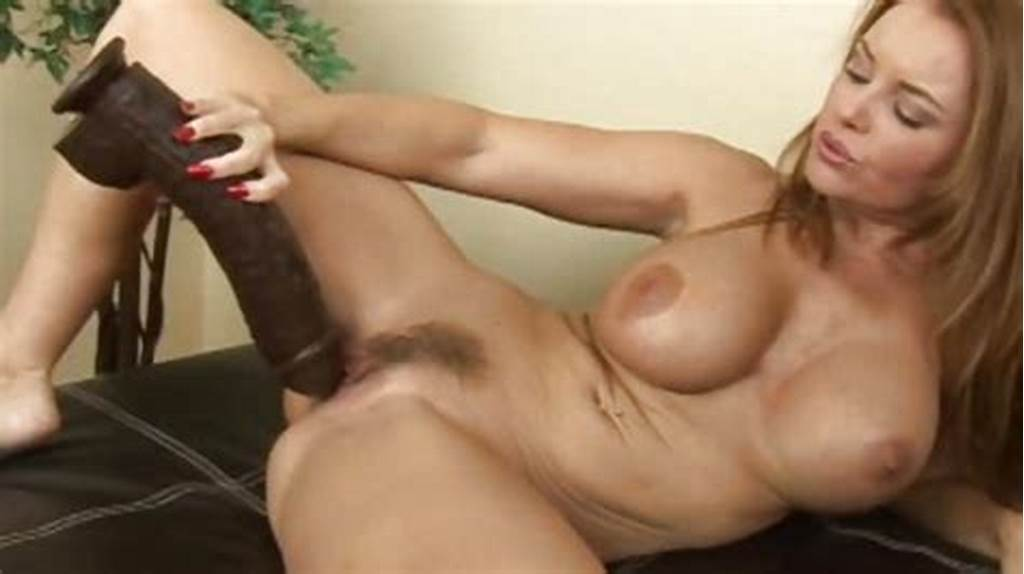 #Milf #Janet #Pussy #Stretched #By #Huge #Fat #Black #Dildo