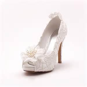 chaussure de mariage femme la tete de poisson blanc dentelle mariée de chaussures chaussures de mariage chaussures