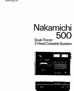 Nakamichi 500 Original Service Manual  With Images