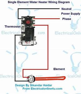 Single Element Hot Water Heater Wiring Diagram