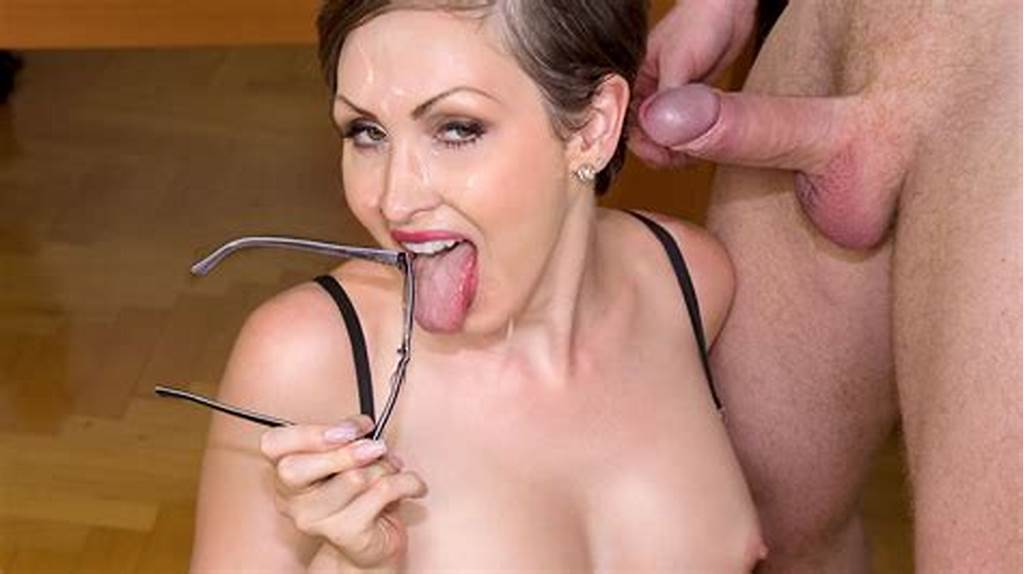 #Yasmin #Scott #Milf #And #Secretary #Gets #Cum #On #Her #Glasses