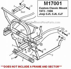 Jeep Cj Plow Mount  Snow Plow Mount Jeep Cj