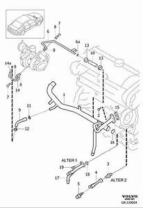 Volvo S80 Engine Coolant Crossover Pipe