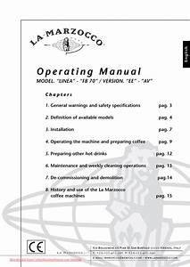 La Marzocco Linea Av User Guide Manual Pdf